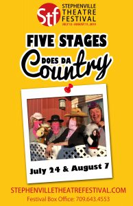 5 Stages Does the Country @ Stephenville Arts and Culture Centre