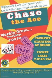 Lions Club/STF Chase the Ace @ Stephenville Lions Club