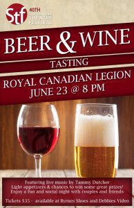3rd Annual Wine and Beer Tasting @ Royal Canadian Legion